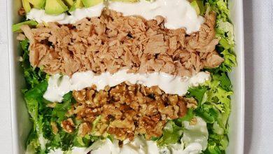 Receta Ensalada de pollo con aguacate y nueces