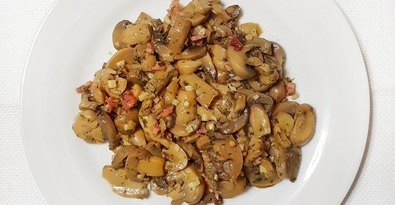receta facil con champiñones en lata